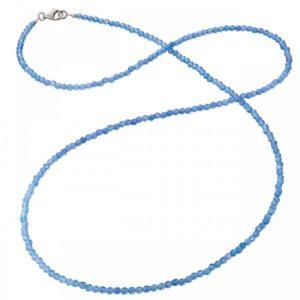Collar gemas ágata azul