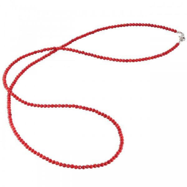 Collar gemas bambú coral