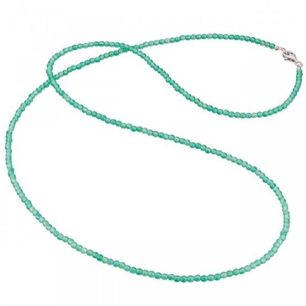 Collar gemas ágata verde