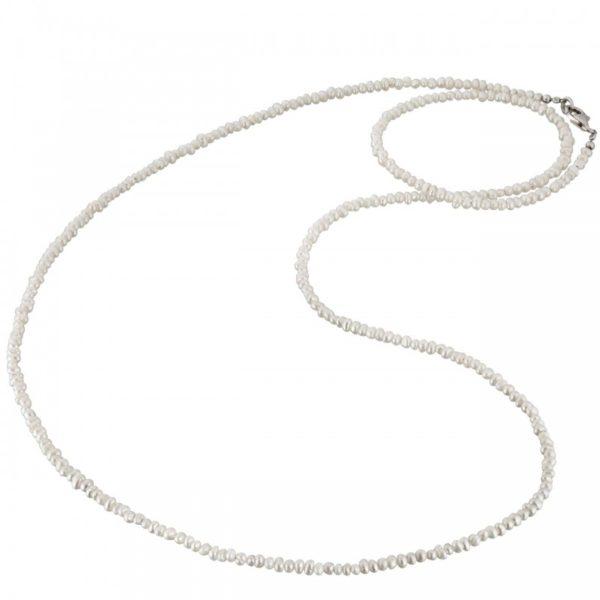 Collar gemas aguafresca perla