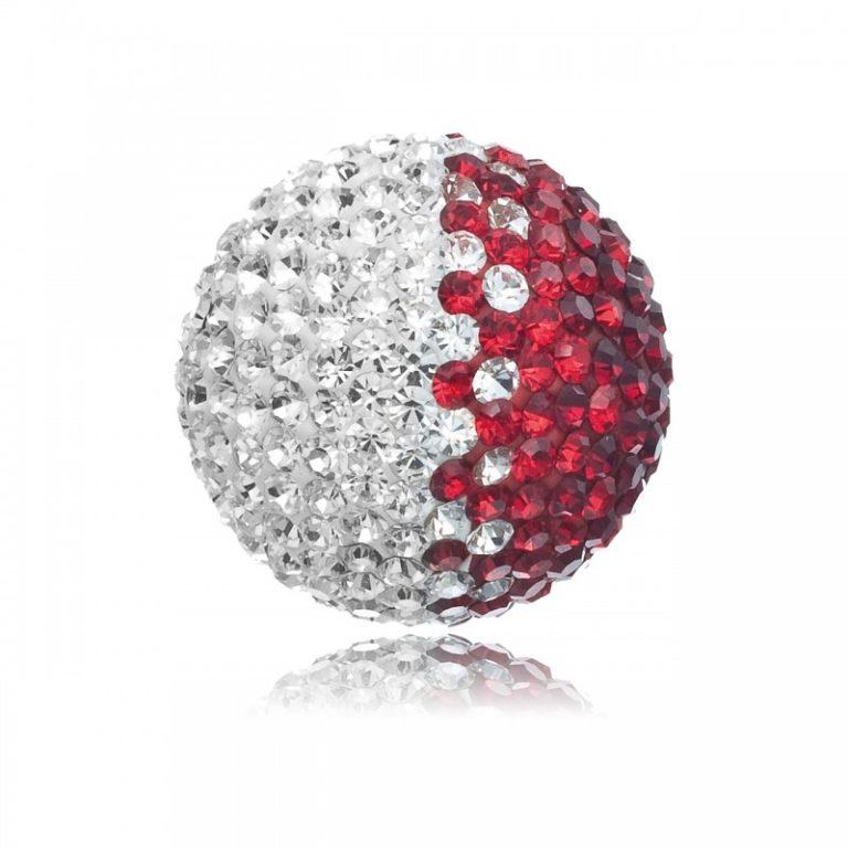Soundball Cristal Rojo/Blanco