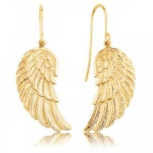 Pendientes alas dorado